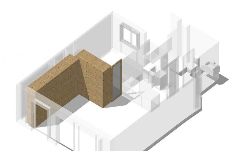 Hacemos que un ático de sólo 50m2 tenga 2 habitaciones y un salón de 30m2. ¿Imposible?