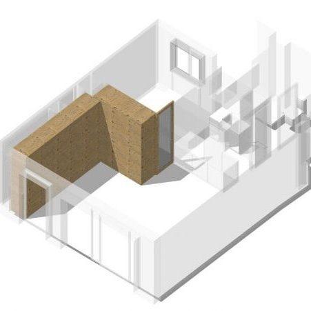 Hacemos que un ático de sólo 50m2 tenga 2 habitaciones y un salón de 30m2