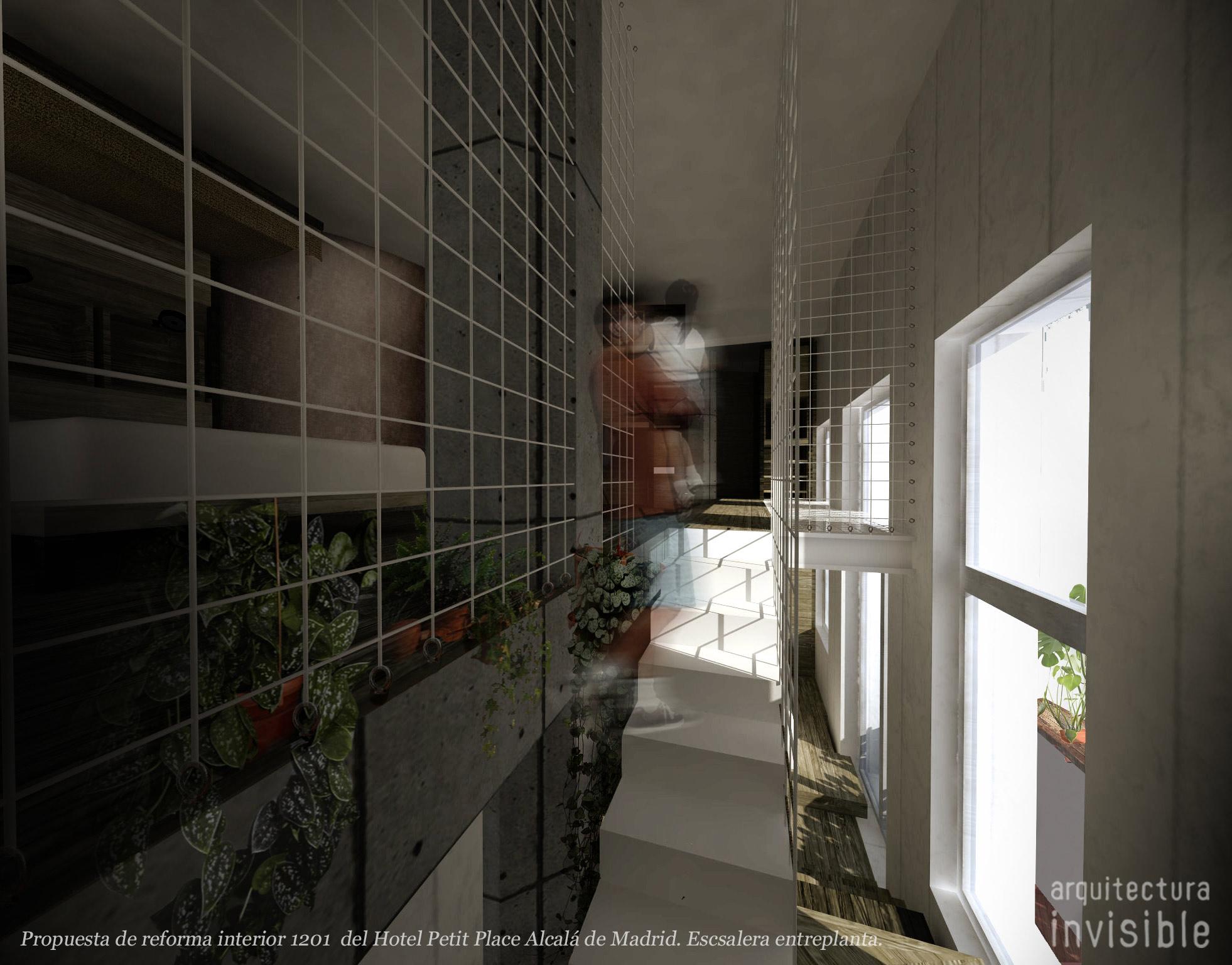 Propuesta de reforma interior 1201 del hotel petit Palace alcalá de Madrid